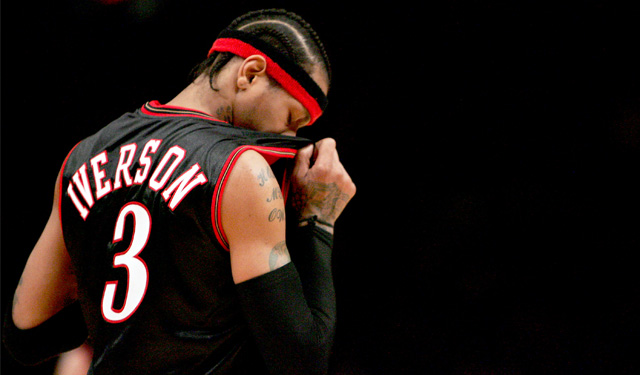 Allen Iverson's dynamic nature was fueled by tough experiences. (Getty)