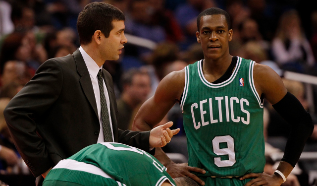 Brad Stevens said he's excited about Rajon Rondo having a great season in Boston.