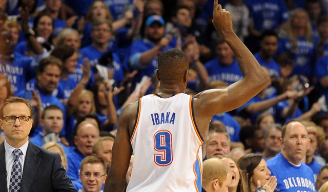 Ibaka could be the one difference in the Thunder advancing or getting eliminated. (USATSI)