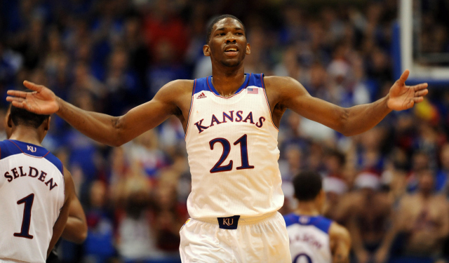 Joel Embiid is a potential No. 1 pick in this year's draft.