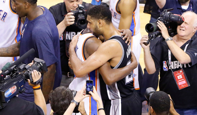 Tim Duncan and the Spurs are going back to the NBA Finals.