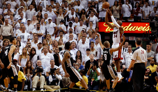 The Heat believe they earned the redemption Ray Allen's shot gave them last year.  (USATSI)