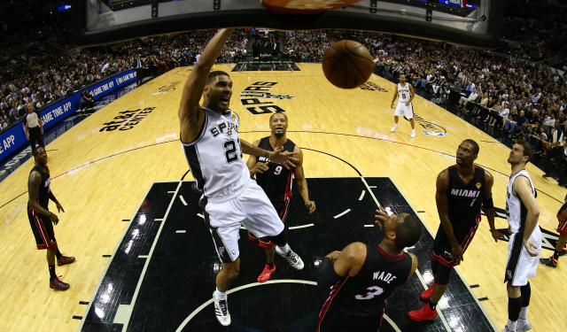 No one has recorded more playoff double-doubles than Tim Duncan.