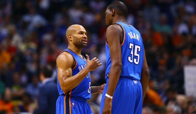 b32c08a0bc72 Reports  Knicks think Derek Fisher can help lure Kevin Durant in ...