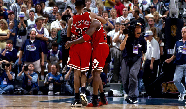 Michael Jordan wasn't going to be stopped that day. (Getty Images)