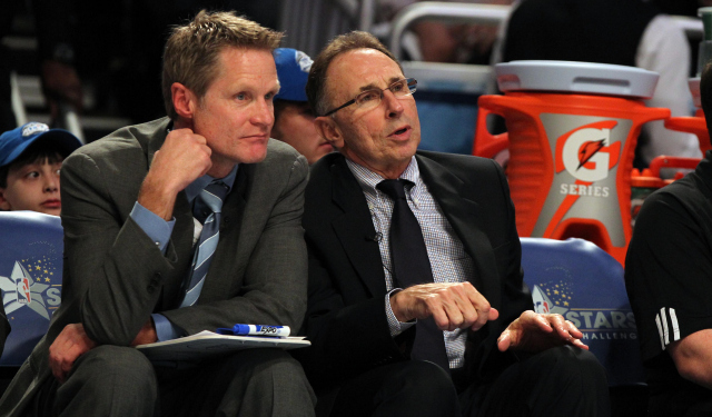Steve Kerr is reportedly talking to Ron Adams about joining his staff.