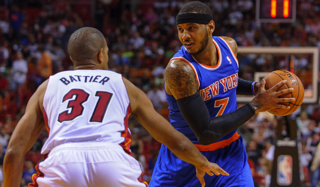 Carmelo Anthony can be a free agent in July.