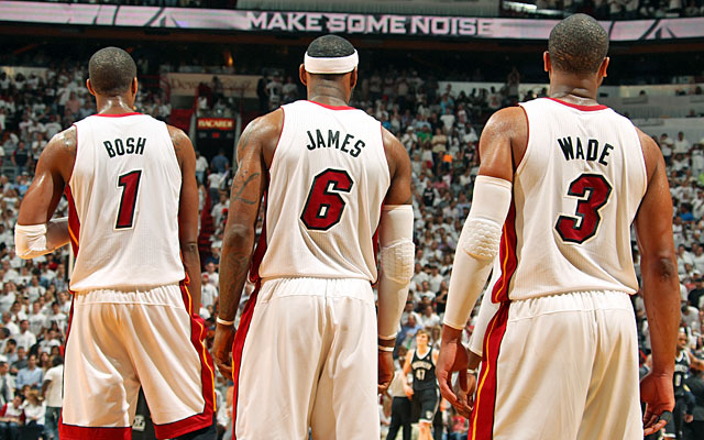The Big Three won two titles and reached the Finals in each of their four years together.  (Getty)