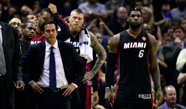 LeBron James and the Heat face an uncertain future.  (USATSI)