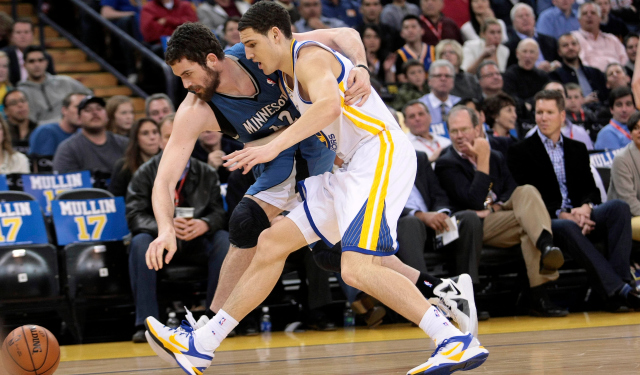 Klay Thompson was nearly traded for Kevin Love.  (USATSI)
