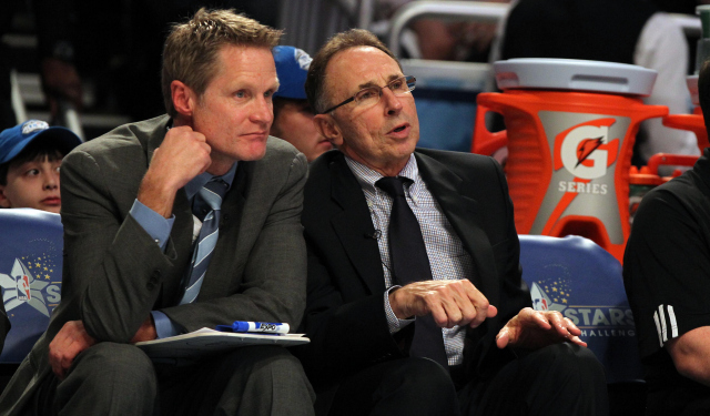 Ron Adams (right) is joining Steve Kerr in Golden State.