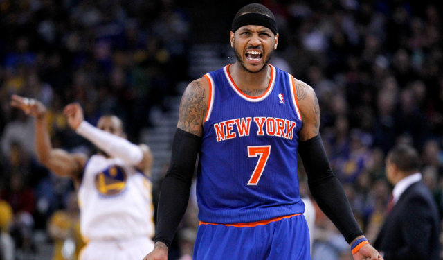 Approaching free agency, Carmelo Anthony reportedly has no favorite yet.