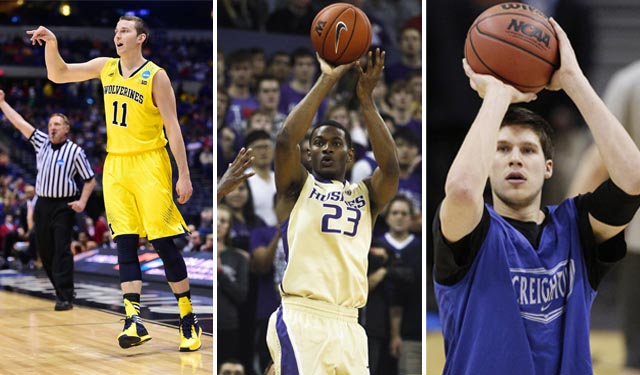 Who is the top shooter out of Nik Stauskas, C.J. Wilcox, and Doug McDermott?