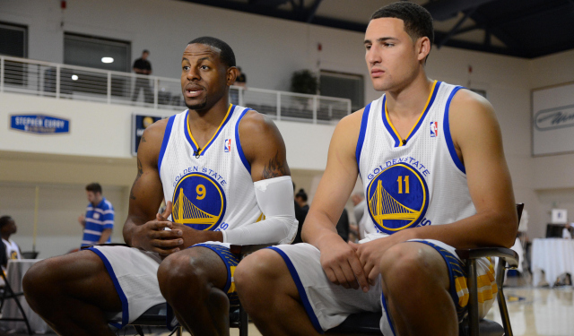 Andre Iguodala would like to keep playing next to Klay Thompson.