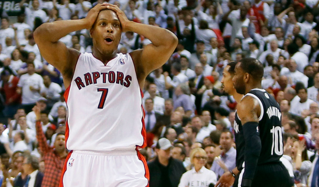 Kyle Lowry can't believe the Raptors won't give him 5 years. (USATSI)