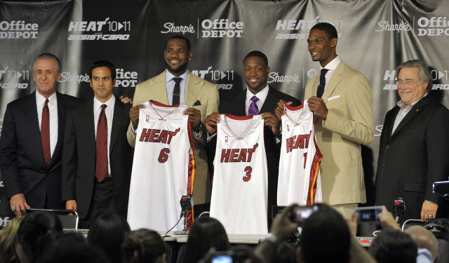 The Heat stars aren't re-signing right away.