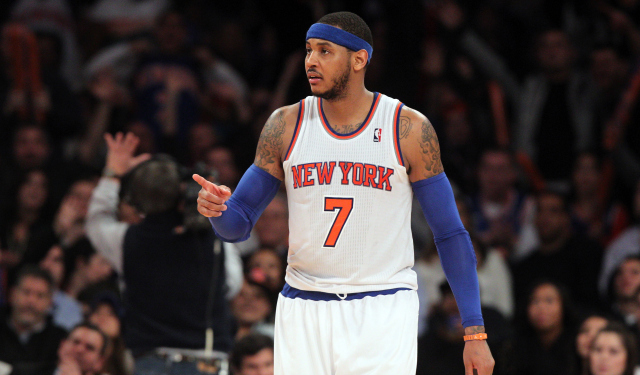 Carmelo Anthony's free-agent tour is starting.