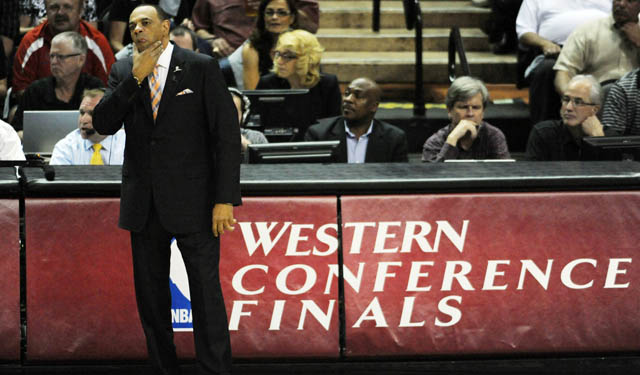 Lionel Hollins has his assistant staff in Brooklyn.