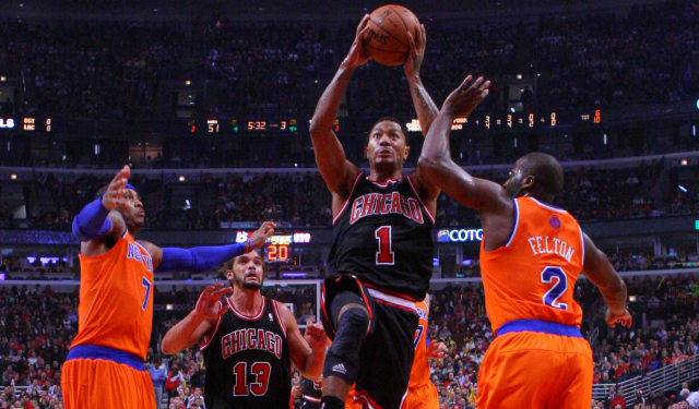 Derrick Rose is focused on basketball, not recruiting.