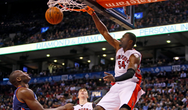 Patrick Patterson is staying in Toronto. (USATSI)