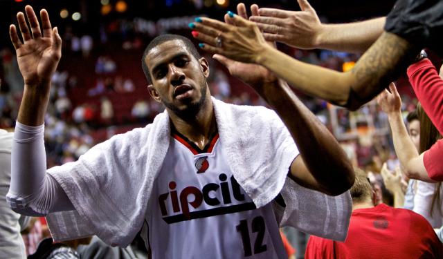 LaMarcus Aldridge says goodbye to Portland.  (USATSI)