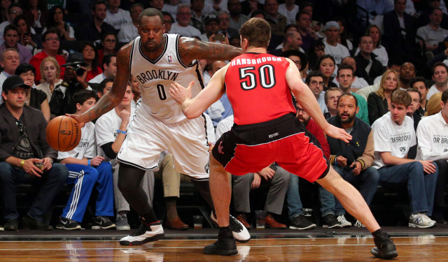 Andray Blatche will reportedly talk to the team he faced in the playoffs.