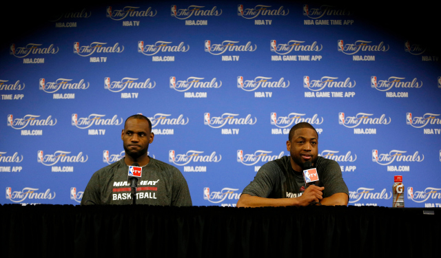 LeBron and Dwyane Wade aren't sharing another podium anytime soon.