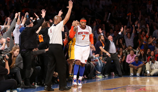 Carmelo Anthony is headed back to New York on a five-year deal.