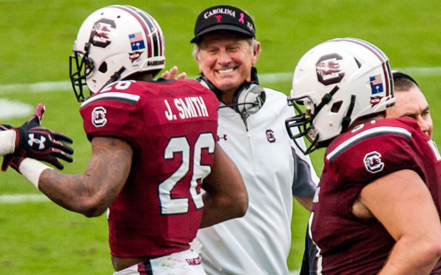 Steve Spurrier is only 31 wins away from Bear Bryant's record for SEC wins. (USATSI)