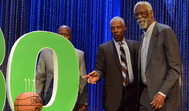 Bill Russell is doing OK after collapsing earlier this week.