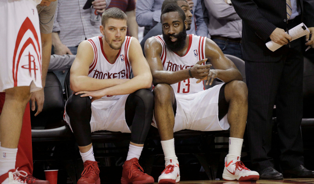 James Harden's going to miss Chandler Parsons.