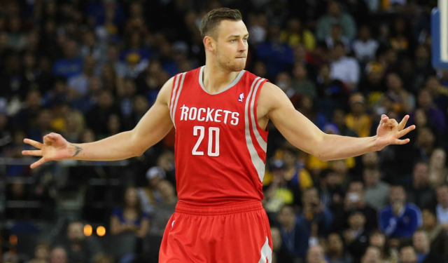 Donatas Motiejunas is competing for Lithuania this summer.