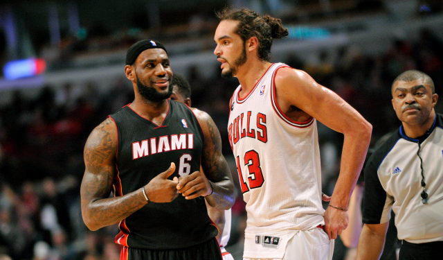 Noah: Happy for LeBron, but hopes to 'kick his ass many times as possible'