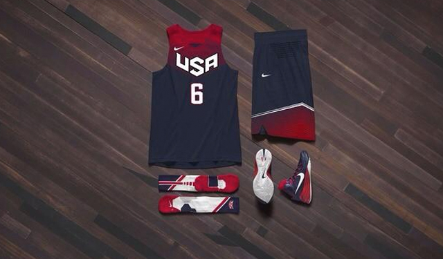 These are the away kits for USA Basketball.