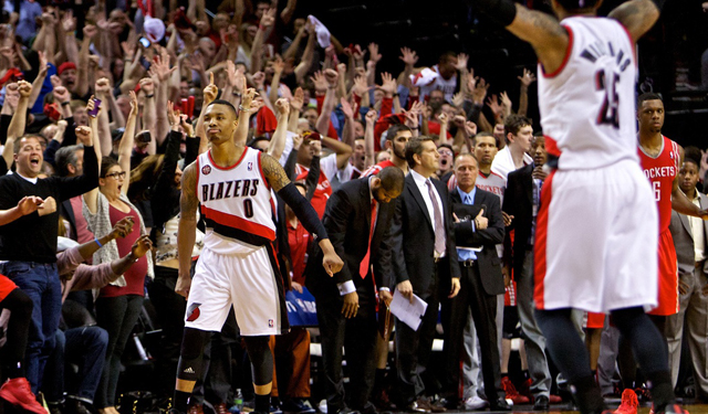 Lillard is shooting 3-pointers at an overwhelming rate.