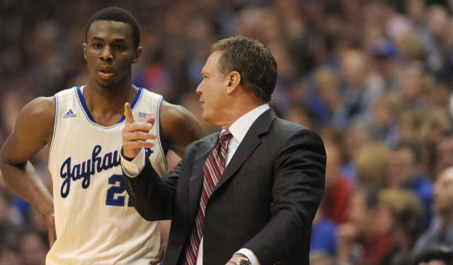 Bill Self says Andrew Wiggins is looking forward to going to Minnesota.  (USATSI)