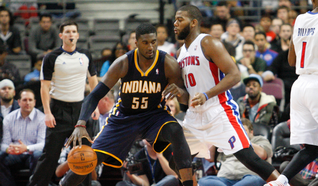 Former Georgetown Hoyas Roy Hibbert and Greg Monroe are in a curious rumor.  (USATSI)