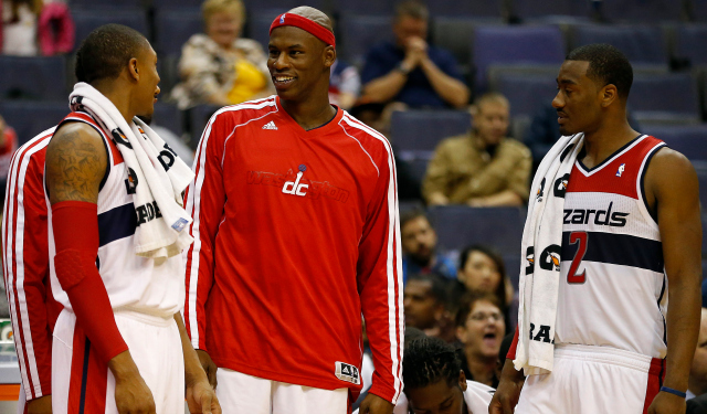 Al Harrington would like to return to the Wizards after China.  (USATSI)