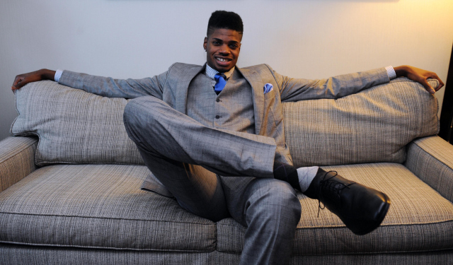 Nerlens Noel relaxes before last year's draft.  (USATSI)
