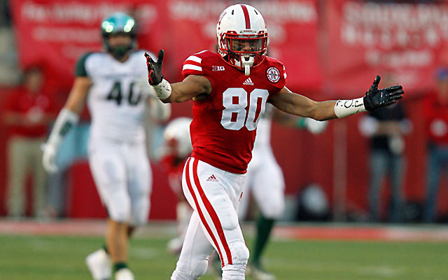 Kenny Bell could leave Nebraska as the all-time leader in receptions and yards. (USATSI)