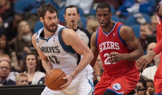 Kevin Love and Thaddeus Young have new challenges ahead of them.  (USATSI)