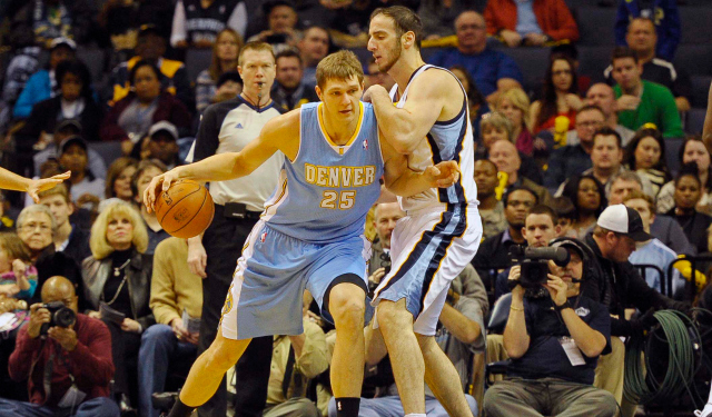 Timofey Mozgov is reportedly a Cleveland target.  (USATSI)