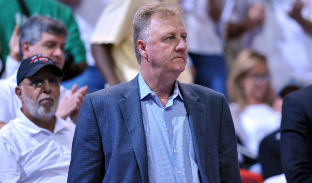 Larry Bird is not pleased with what Paul George tweeted.  (USATSI)