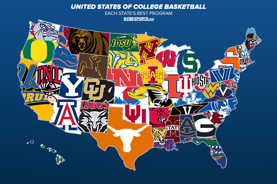 The United States of College Basketball: Top program in each ... on mls states map, conservative states map, escrow states map, republican states map, great lakes states map, nhl states map, union states map, italy states map, eastern us states map, mlb states map, football states map, fill in states map, nfl states map, the us states map, sec states map, germany states map, blankunited states map, empty states map, right to work states map, 3.2 beer states map,