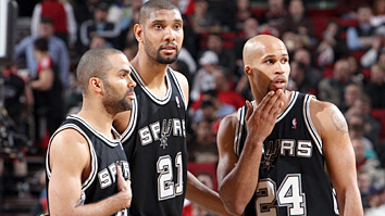 Tony Parker, Tim Duncan and Richard Jefferson (Getty Images)