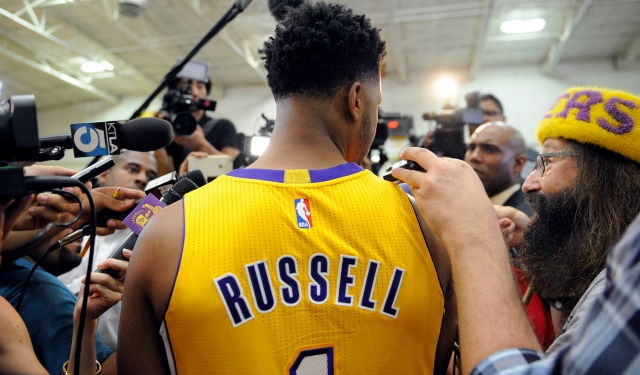 D'Angelo Russell will literally turn to Kobe Bryant for advice. (USATSI)
