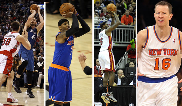 Love, Anthony, James, and Novak are various versions of the stretch-4. (USATSI)