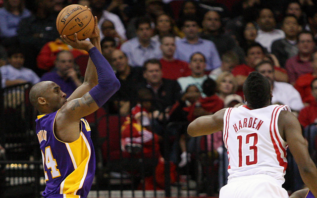 Has Harden surpassed Bryant as the top shooting guard in the league? (USATSI)