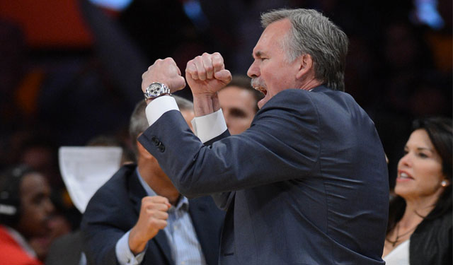If only for a night on a big stage, D'Antoni's Lakers had some fight in them. (USATSI)
