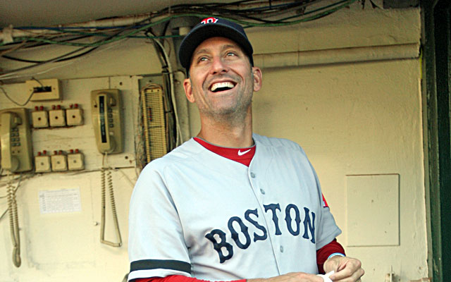 Torey Lovullo could be a serious managerial candidate for the Cubs -- if he's allowed to interview.  (Getty)